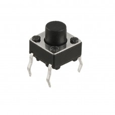 6mmx6mm Pushbutton Tactile Tact Push Button Switch SPST Momentary Through Hole