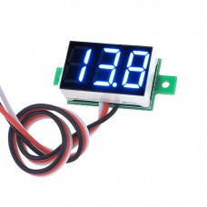 0-100V DC Powered 3 Wire Blue Voltmeter(3.3-30V 2 Wire)