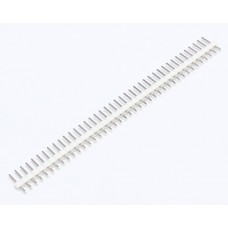"2.54mm 0.1"" Pitch 1x40 40 Pin Male Straight Breakaway Pin Header - White"