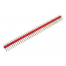 "2.54mm 0.1"" Pitch 1x40 40 Pin Male Straight Breakaway Pin Header - Red"