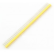 "2.54mm 0.1"" Pitch 1x40 40 Pin Male Straight Breakaway Pin Header - Yellow"